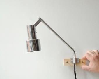 Vintage Sconce Lamp, Mid Century Sconce Light