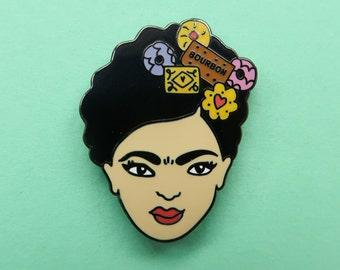 Biscuit Frida Kahlo Enamel Pin