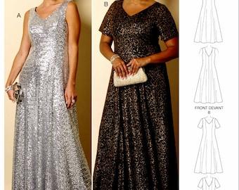 Easy Evening Dress Pattern, Formal Dress Pattern, Butterick Sewing Pattern 6146