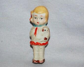 Vintage / Bisque / Doll / Girl / Puppy / penny doll / frozen charlotte / vintage dolls