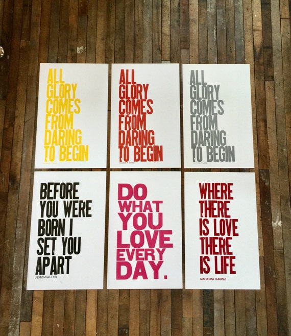 """SALE, 50% OFF Poster """"Oops"""" Clearance Sale Your Choice of 11 inch by 17 inch Letterpress Prints"""