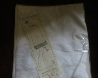 1970 vintage Superfection   white antron  and lace half  slips    sz 2x     new in package