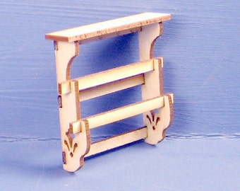 Wall Hanging Quilt Rack Kit 1:12 Scale
