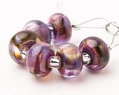 Moorland Spacer Swirl - Handmade Lampwork Glass Beads by Sarah Downton