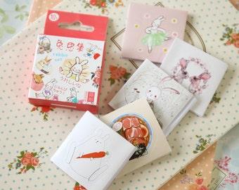 Bunny Rabbit cute cartoon shapes deco stickers