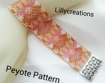 Peyote Pattern 2017JBracelet or Bookmark
