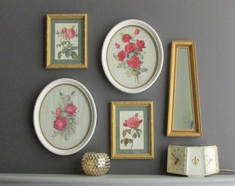 5 piece vintage wall art / Boho Garden/ home decor
