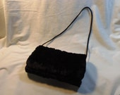 Black Faux Fur Muff hand warmer UniMItten for Toddlers and Girls