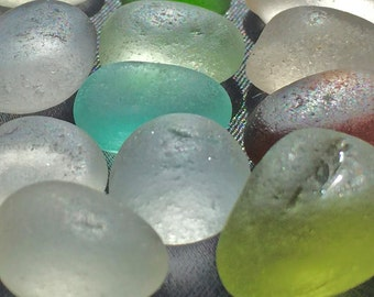 Sea Glass or  Beach Glass of  Hawaii! ROUNDS! AQUA! LIME! Flawless pieces for jewelry! Exotic sea glass from Hawaii! Bulk Sea Glass Seaglass