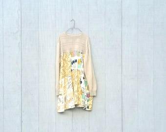Sweater Dress | Patchwork |Tunic | Plus Size | funky | upcycled | boho |gypsy | wearable art | tunic dress by CreoleSha
