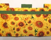 Multi Pocket Walker Bag or Armrest bag-Sunflowers