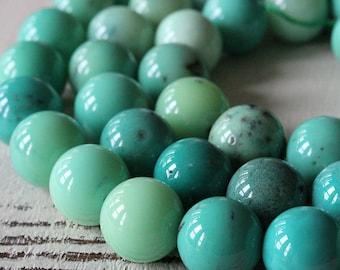 Large Round Grass Opal - 12mm Round Gemstone Beads - Jewelry Making Supplies -  Jewelry Supply - CHOOSE AMOUNT