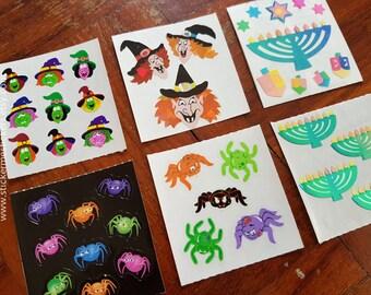 26, SANDYLION Sticker, Halloween sticker, Hannukah sticker, Witch sticker, Spider sticker, Candle sticker, Witches sticker, Treat or Treat