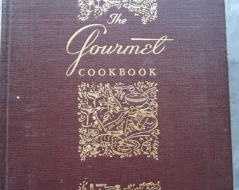 Vintage The Gourmet Cookbook Large Book Color Photos 1000's Recipes