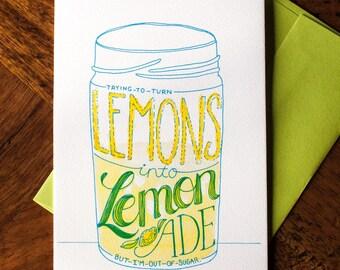 Lemons to Lemonade - Card