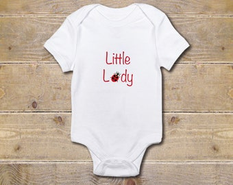 Ladybug Day Baby Onesie, Little Lady Onesie, Ladybug, Baby Shower Gift,  Baby Clothes,New Baby Gift, Girl, First Mother's Day