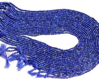 Lapis Lazuli Faceted Roundel (Quality A) / 2.3 to 2.8 mm / 36 cm / LA-021
