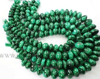 Malachite Smooth Roundel (Quality B) / 10 to 15 mm / 36 cm / MA-073