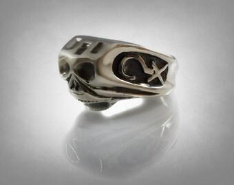 Depp 925 solid sterling silver SKULL RING Exact