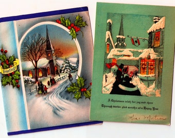 Vintage Christmas Cards ~ C8