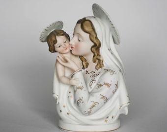 vintage lefton madonna and child jesus