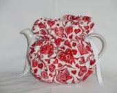 Pretty Valentines Reversible  6 Cup Teapot Cozy