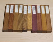 10 Exotic Wood Pen Blanks, Pen Blanks for Sale, Small Turning Stock, Turning Wood, Wood Blanks, Turning Blanks, Craft Supplies, E202