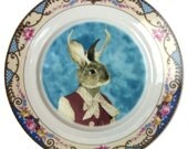 Jackie the Jackalope Portrait Plate 6.15""