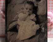 Tintype Baby w/ Hidden Mother