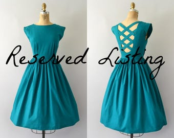 RESERVED LISTING -- Vintage Teal Sundress
