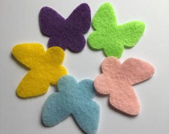 Felt Butterfly-DIY Kits for Spring-Easter Crafts-Quiet Books-Butterflies Garland-Decorations Hair Accessories-Planner Pages-Quilt Appliques