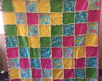 Kitty rag quilt