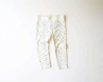 SALE | Size 18-24 Months | Organic Baby Leggings | Screen Printed Clothing | Baby Pants | Organic Clothes | Unisex babies | Gender Neutral
