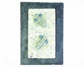 Ceraurus Fossil Trilobite Fused Glass Wall Panel