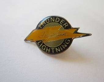 vintage FREIGHTLINER pin - lapel pin, hat pin, tack pin - advertising pin - lightning bolt, thunder and lightning