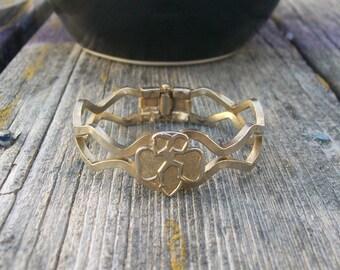 Vintage Brownie Girl Scout Bracelet 1950s 1960s Trefoil