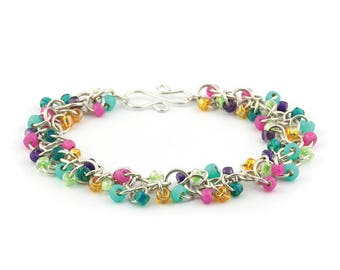 Shaggy Loops Chainmaille Bracelet Kit - 19 Color Options Available