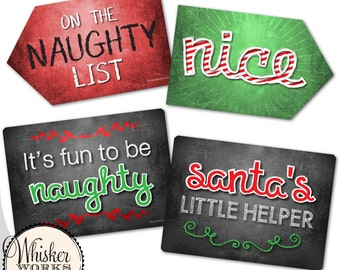 Plastic Photo Booth Phrases - Christmas / Holiday Signs