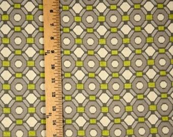 Cindy Lime Geometric Green Grey Upholstery Fabric