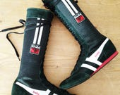 CoOl Gola Black Suede knee high Boots