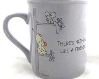 Friends See Things Eye to Eye, Vintage Cartoon Mug from Hallmark Cards (G2)