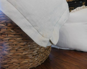 Washed linen flanged edge duvet cover/twin Full Queen King/ Installment available on this item