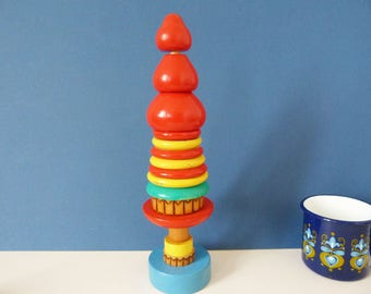 Vintage Russia stacking tower toy