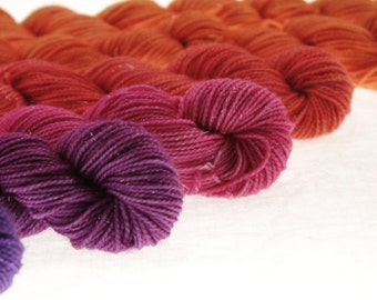 Mini Skein DK or Fingering Ombre Choose Your Yarn Base -  Midsummer Dreaming