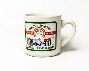 Vintage Boy Scouts Coffee Mug- Miami Florida- Carlos J Arboleya Camping Picnic Grounds