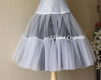 Ready to Ship in SMALL. DISCOUNTED PRICING. Two Color Tea Length Crinoline. Extra Fullness Petticoat.
