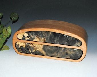 Handmade Men's Wood Jewelry Box or Valet Box- Buckeye Burl on Cherry- USA Made by BurlWoodBox- Handmade Wood Jewelry Box, Wooden Storage Box