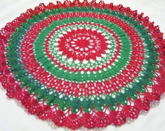 x- large Merry Christmas centerpiece doily