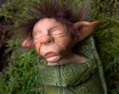 OOAK baby elf art doll
