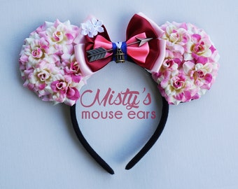 Inspired Mulan Rose Mouse Ears